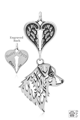 Sterling Silver Australian Shepherd Memorial Gift, Australian Shepherd Memorial Jewelry, Australian Shepherd Sympathy Gifts,   Australian Shepherd Pet Memorial, Australian Shepherd Loss Of Pet, Australian Shepherd Rainbow Bridge