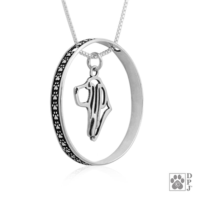 Sterling Silver Basset Hound Charm, Sterling Silver Basset Hound Pendant, Sterling Silver Basset Hound Necklace, Basset Hound Jewelry, Basset Hound Gifts,