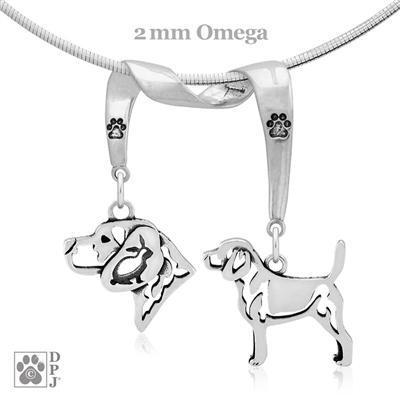 Fine Beagle Jewelry, High End Beagle Necklace, Sterling Silver Beagle Pendant Necklace, Beagle Gifts, Grand Champion Beagle Jewelry, Best in Show Beagle
