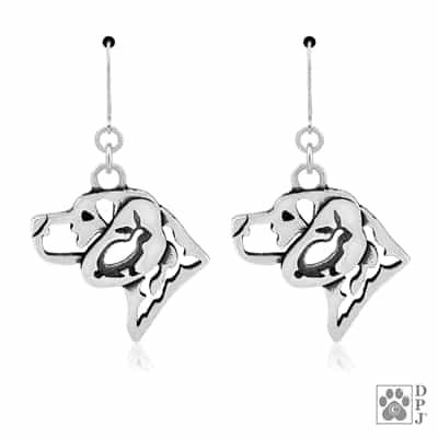 Sterling Silver Beagle Earrings, Sterling Silver Beagle Jewelry, Beagle Dangle Earrings, Sterling Silver Beagle Gifts, Beagle Products, Beagle Bling