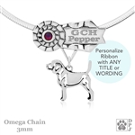 Sterling Silver Best In Show Beagle Jewelry, Best In Show Beagle Pendant, Best In Show Beagle Necklace, Personalized Beagle Gifts, Grand Champion Beagle