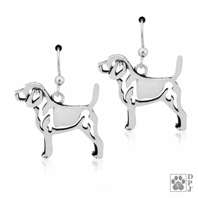 Sterling Silver Beagle Earrings, Sterling Silver Beagle Earring, Sterling Silver Beagle Jewelry, Sterling Silver Beagle Jewellry, Beagle Gifts,  Beagle Lovers, Best Gifts For Dog Lovers,
