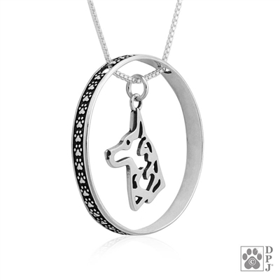 Sterling Silver Belgian Malinois Breed Jewelry, Sterling Silver Belgian Malinois Pendant, Sterling Silver Belgian Malinois Charm, Belgian Malinois Necklace, Belgian Malinois lover's gifts, Belgian Malinois Merchandise, Belgian Malinois Bling