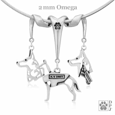 Sterling Silver Belgian Malinois Necklace, Sterling Silver Belgian Malinois Jewelry, Sterling Silver Belgian Malinois Pendant, Sterling Silver Belgian Malinois Charm, High Quality Belgian Malinois Jewelry, Top Rated Dog Gifts, Unique Dog Lover Gifts