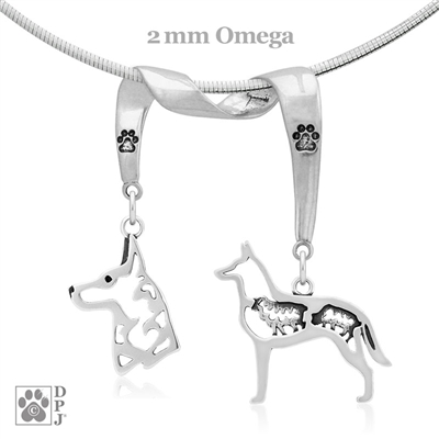 Sterling Silver Belgian Malinois Necklace, Sterling Silver Belgian Malinois Jewelry Sterling Silver Belgian Malinois Pendant, Sterling Silver Belgian Malinois Charm, Fine Belgian Malinois Jewelry, Top Rated Dog Gifts, Best In Show Jewelry, Best of Breed