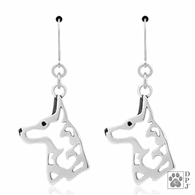 Sterling Silver Belgian Malinois Jewelry, Sterling Silver Belgian Malinois Earrings, Sterling Silver Belgian Malinois Earring, Unique Gifts For Dog Lover, Dog Lover Gifts, Top Rated Dog Gifts, Dog Themed Gifts, Dog Themed Jewelry, Dog Jewelry