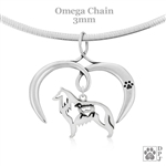 I Love My Belgian Sheepdog Necklace, Sterling Silver Belgian Sheepdog Necklace