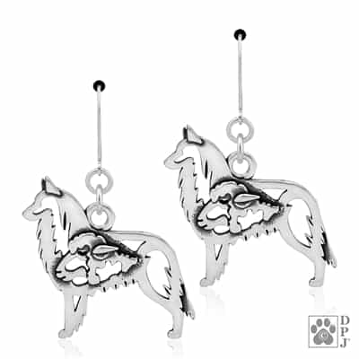 Belgian Tervuren Earrings, Sterling Silver Belgian Tervuren Earring,  Belgian Tervuren Gifts, Belgian Tervuren Bling. Dog Breed Jewelry, Purebred Dog Gifts, Gifts for Dog People, Gifts for Dog Lovers, Gifts For Dog Parents,