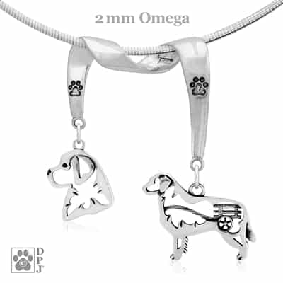 Fine Bernese Mountain Dog Jewelry, Sterling Silver Bernese Mountain Dog Pendant Necklace, Grand Champion Bernese Mountain Dog Jewelry, Best in Show Bernese Mountain Dog