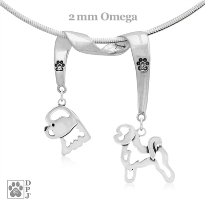 Sterling Silver Bichon Frise Necklace, Sterling Silver Bichon Frise Jewelry, Sterling Silver Bichon Frise Charm, Sterling Silver Bichon Frise Pendant, Bichon Frise Gifts