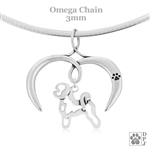 I Love My Bichon Frise Necklace, Sterling Silver Bichon Frise Necklace