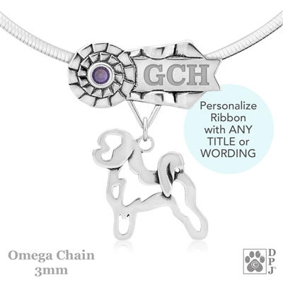 Personalized Best In Show Bichon Frise Jewelry, Best In Show Bichon Frise Pendant Necklace, Grand Champion Bichon Frise, Bichon Gifts