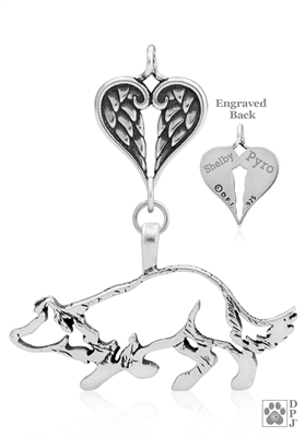 Border Collie Angel Necklace, Memorial Gifts for Border Collie Lovers
