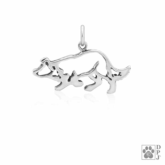 b5b90ee96 Crouch Border Collie Charm, border collie pendant, border collie ...
