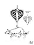 SOLD OUT Border Collie Pendant Small Crouch Memorial Jewelry -- new