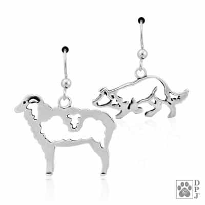 Border Collie Earring, Sheep Earring