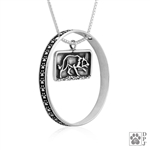 Sterling Silver Border Collie Pendant Necklace, Border Collie Fine Jewelry, Border Collie Gifts, Border Collie Lovers