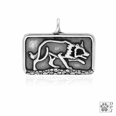 Border Collie Pendant, Sterling Silver Border Collie Necklace