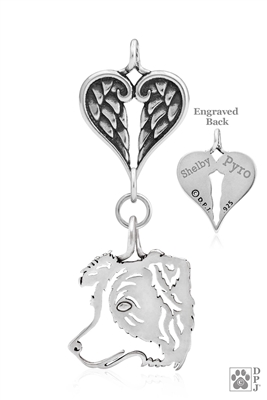 Sterling Silver Border Collie Catcher Memorial -- new