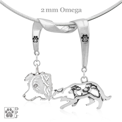 Border Collie Necklace, Border Collie Jewelry