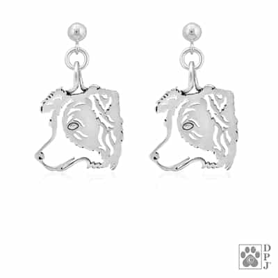 Border Collie Head Earrings, Border Collie Earring