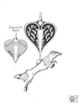 Sterling Silver Fly Like A Border Collie Memorial Jewelry -- new