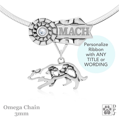 Personalized Best In Show Border Collie Jewelry, Best In Show Border Collie Pendant Necklace, Grand Champion Border Collie