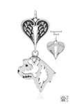 Sterling Silver Border Terrier Memorial -- new