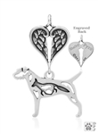 Sterling Silver Border Terrier Memorial Necklace -- new