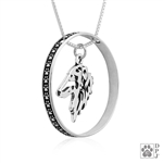 Borzoi Jewelry, Borzoi Charm, Borzoi Pendant, Borzoi Necklace, Borzoi Dog Breed Jewelry, Fine Borzoi Jewelry, Borzoi Gifts, Borzoi Gifts For Dog Lovers