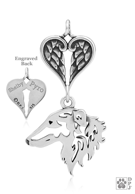 Borzoi Memorial Jewelry, Borzoi Memorial Gift, Borzoi Pet Loss Jewelry, Pet Memorial Jewelry, Dog Memorial Gifts, Pet Keepsake Jewelry, Pet Loss Jewelry