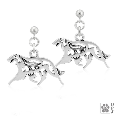 borzoi Earrings, borzoi Earring