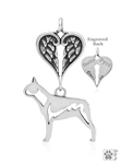 Personalized Sterling Silver Boston Terrier Memorial Necklace