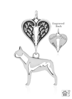 Sterling Silver Boston Terrier Memorial Jewelry -- new