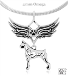 Sterling Silver Boxer Pendant, Cropped Ears, Body, w/Tears In Heaven -- new