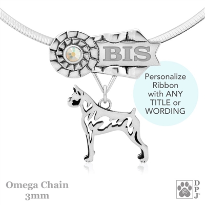 Best In Show Boxer Jewelry, Best In Show Boxer Pendant, Best In Show Boxer Necklace