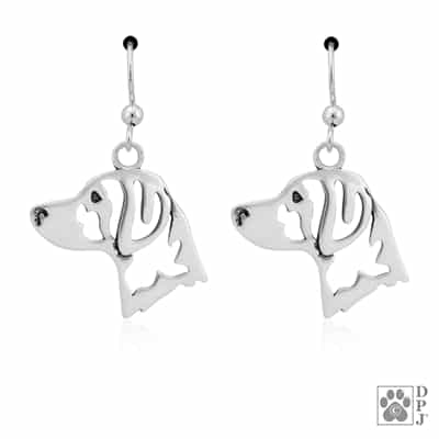 Sterling Silver Brittany Earrings, Brittany Jewelry, Brittany Dangle Earrings, Brittany Gifts, Brittany Lovers, Brittany Merchandise
