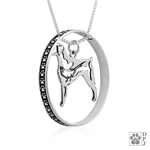 Sterling Silver Brittany Pendant, w/Pheasant in Body, w/Colossal Blinger -- new