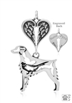 Sterling Silver Brittany Memorial Jewelry -- new