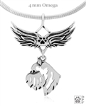 Sterling Silver Brussels Griffon Angel Wing Necklace, Brussels Griffon Memorial Pendant Jewelry, Brussels Griffon Sympathy Gifts