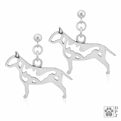 Bull Terrier Earrings, Bull Terrier Gifts, Bull Terrier Jewelry, Bull Terrier Dog Lover Gifts