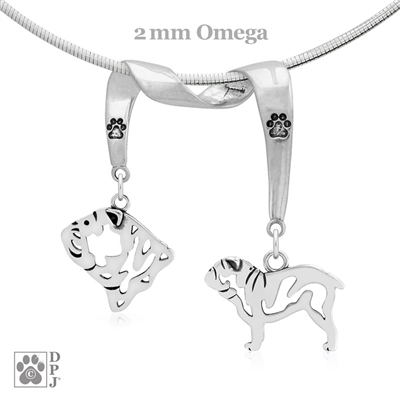 Bulldog Necklace, Bulldog Jewelry, Bulldog Pendant, Bulldog Charm, Bulldog Gifts