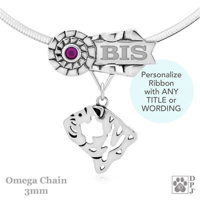 Personalized Best In Show Bulldog Jewelry, Best In Show Bulldog Pendant Necklace, Sterling Silver Bulldog Gifts, Grand Champion Bulldog