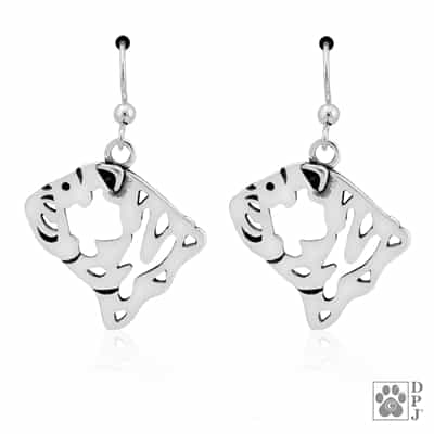 Bulldog Earrings, Bulldog Earring, Bulldog Jewelry, Bulldog Gifts