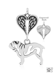 Sterling Silver Bulldog Memorial Jewelry -- new