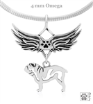 Sterling Silver Bulldog Pendant, Body, w/Tears In Heaven -- new