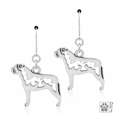 Bullmastiff Earrings, Bullmastiff Earring, Bullmastiff Gifts