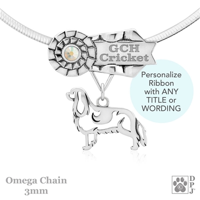 Personalized Best In Show Cavalier King Charles Spaniel Jewelry, Best In Show Cavalier Pendant Necklace, Sterling Silver Cavalier Gifts, Grand Champion Cavalier