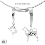 Fine Chihuahua Jewelry, Sterling Silver Chihuahua Pendant Necklace, High End Chihuahua Gifts, Grand Champion Chihuahua, Best in Show Chihuahua