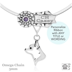 Personalized Best In Show Chihuahua Jewelry, Best In Show Chihuahua Pendant Necklace, Sterling Silver Chihuahua Gifts, Grand Champion Chihuahua